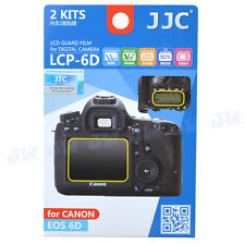 JJC 2 PCS LCD Guard Film Camera Screen Display Protector Cover for Canon EOS 6D