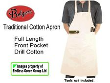 Bolgers Traditional Drill Cotton Carpenters Craft Apron - full length & pocket