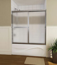 "MAAX 60"" MIKA 3/16"" TWO-PANEL FRAMED GLASS SLIDING SHOWER TUB DOOR"