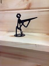 Hunter , Crouched Hunter , made of solid metal round stock