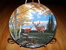 """Woodland Meadow"" WILDERNESS REFLECTIONS Deer by John Van Straalen Danbury Plate"