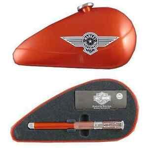 Waterman Horizon Harley Davidson  Rollerball Pen Orange New In Gas Tank  Box