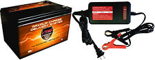 VMAX64 AGM 12V 15Ah AGM SLA Deep Cycle Battery +VMAX 3.3A 12V Charger Maintainer