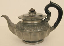 James Dixon Son Ca1830 Pewter Teapot 6cup Wood Handle England Antique Britannia