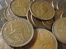 Australian 1959 No Dot Plain Penny Coin Copper Antique Fine To Very Fine