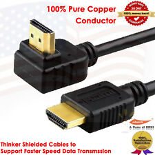 Super Speed 90-Degree 1.4V HDMI Cable 25FT - Supports 3D,Ethernet,Audio Return