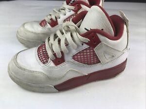 Nike Air Jordan 4 Retro Alternative 89 Size 12C Red And White 308499-106