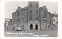 D55/ Butte Montana Mt Real Photo RPPC Postcard c1940s Mountain View Church