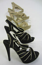 """Spot on Women's Textile Stiletto Very High Heel (greater than 4.5"""") Shoes"""