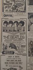 """DEC 19, 1965 NEWSPAPER PAGE #7783- THE BEATLES IN """"HELP"""" + GERRY & PACEMAKERS"""