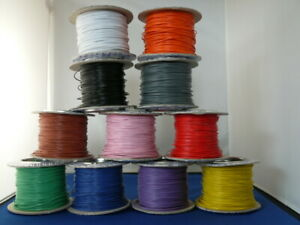 5 metres Solid Core 1/0.6 Hook Up/Equipment Wire 11 colours
