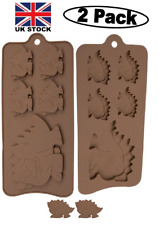 (2 PC) Dinosaur Design Silicone Chocolate,Baking,Wax,Candy,Soap,Bath 10 Mould