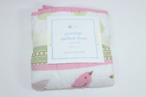 POTTERY BARN BABY KIDS PENELOPE QUILTED SHAM SMALL BIRDS 12 x 16 NEW NWT