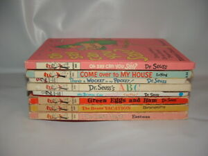 FIRST EDITIONS LOT 8 DR SEUSS OH SAY CAN YOU SAY WOCKET POCKET GREEN EGG BOOKS