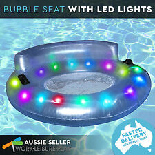 LED Light up Bubble Seat Inflatable Pool Water Toy by Airtime Lights Aqua Party