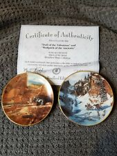 New ListingMiniature plates by Bradford. Fine porcelain crafted set of 2 with certification