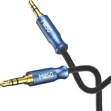 New listing MillSo Audio Cable 3.5mm Male to Stereo Aux Cord Nylon Braided 4 Ft