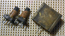 Variable Ferrite Cored Inductor Coils both tapped screened about 0.02mH