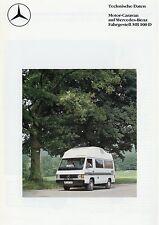 MB 100 D Technische Daten Prospekt 1987 9/87 Weinsberg Orbiter HDL Reisemobil