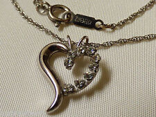 "pendant chain necklace 19""L Krements signed Austrian Crystal heart"