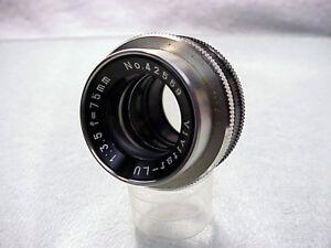 Fast Vivitar-LU Lens 75mm f/3.5   M39 Mount   Clean Glass   $28   No 14  