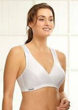 GLAMORISE Bra 38B 38C 38 B-C SPORT Active Comfort Wrap YOGA LOW-IMPACT White NEW