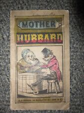 History of Old Mother Hubbard 1840s/ 1850s Book C.P. Huestis Nursery Rhyme