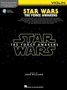 Star Wars The Force Awakens Violin Play-Along Book *NEW* Music Online Audio