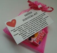 Sister Sister`s Survival Kit KEEPSAKE for Birthday Christmas Fun Novelty Gift