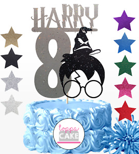 Personalised Harry Potter Happy Birthday Cake Topper Party