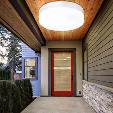 Runde Decken Leuchte Badezimmer Beleuchtung IP44 Feuchtraum Außen Lampe Glas E27