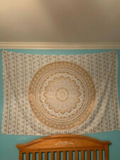 Tapestry Wall Hanging Mandala Golden Ombre