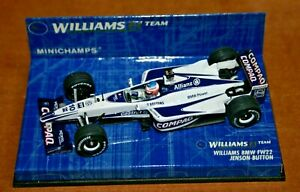 1/43 WILLIAMS BMW FW 22 2000 JENSEN BUTTON WILLIAMS F1 COMPAQ MINICHAMPS