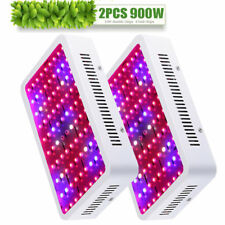 2× 900W Plus LED Grow Light Kits Lamp for Hydro Tent Growing Bloom Full Spectrum