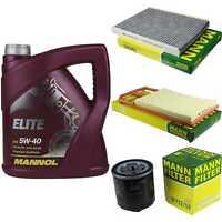 Motor-Öl 5L MANNOL Elite 5W-40+MANN-FILTER Filterpaket VW Polo 6N1 100 1.4 16V