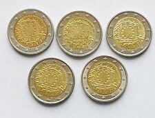!! 5x 2€ 25 Jahre EU Flagge a-d-f-g-j 2015 !!
