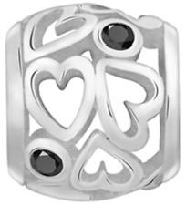 Lovelinks Bead Sterling Silver Heart CZ Pendant Fashion Charm Jewelry TP060CZ