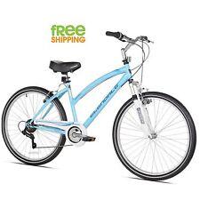 "Kent Hybrid Bike 26"" Blue Women 7 speed Comfort Bicycle Shimano New!"