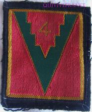 IN8934 - INSIGNE TISSU patch 4° Division d'Infanterie