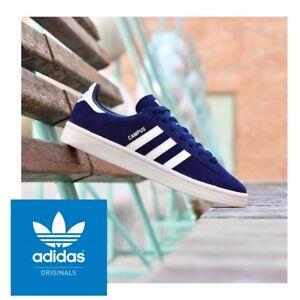 adidas Originals Campus Navy White Trainer Shoe Size 3,4,5 Womens Girls Boys NEW