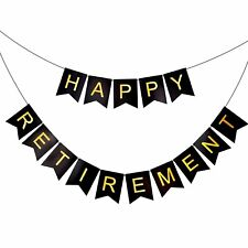 Happy Retirement Bunting Banner Garland Birthday Party Decoration