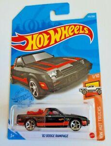 Hot Wheels '82 Dodge Rampage Black #175 175/250 2021 HW Hot Trucks 1/10