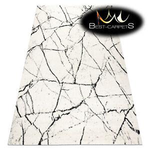 Amazing modern design Original Rug 'GNAB' Marble white black Best carpets