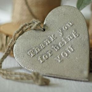 Silver Heart Thank You for Being You - Gift