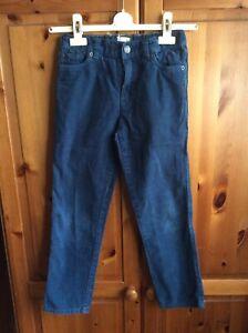 John Lewis Boys Blue Corduroy Jeans / Trousers Age 9 Years