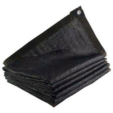 90% Black Shade Cloth Taped Edge with Grommets UV Stabilized