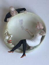 Risqué Schafer Vater Germany Bisque Naughty Smoking Girl Black Stocking Figurine