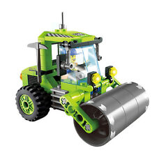 102 Pcs Engineering Road Roller Truck Building Blocks Toys Kids Christmas Gift