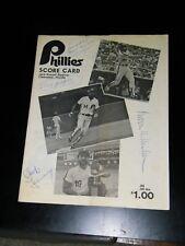 PHILADELPHIA PHILLIES 1984 PROGRAM SIGNED BY PRES BOWIE KUHN & CHUB FEENEY