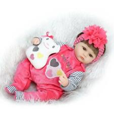 17''42cm Girl Reborn Baby Dolls Soft Silicone Lifelike Baby Look Real Xmas Gift